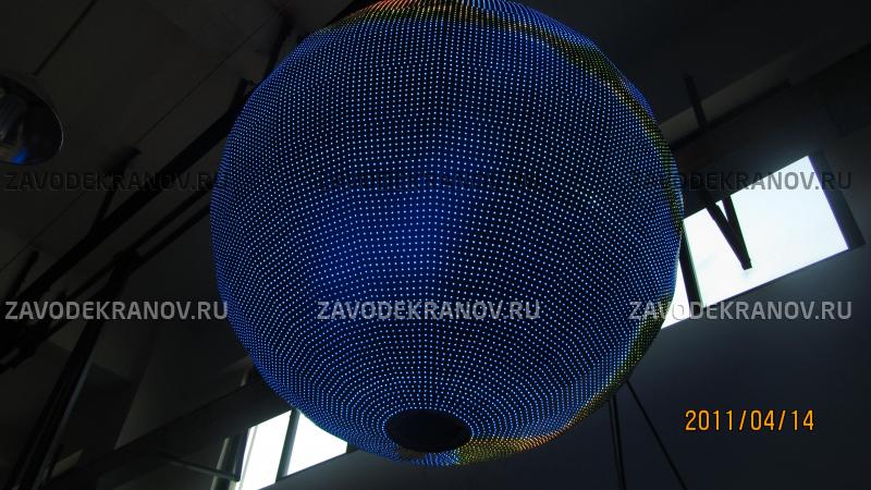 светодиодный экран шар - D 2м - обзор от 10м