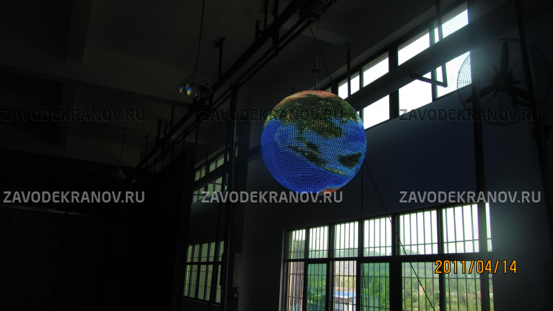 экран шар - D 1м - обзор от 6м