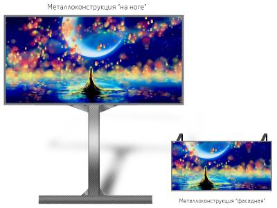 Светодиодный экран 10*5м - обзор от 10м