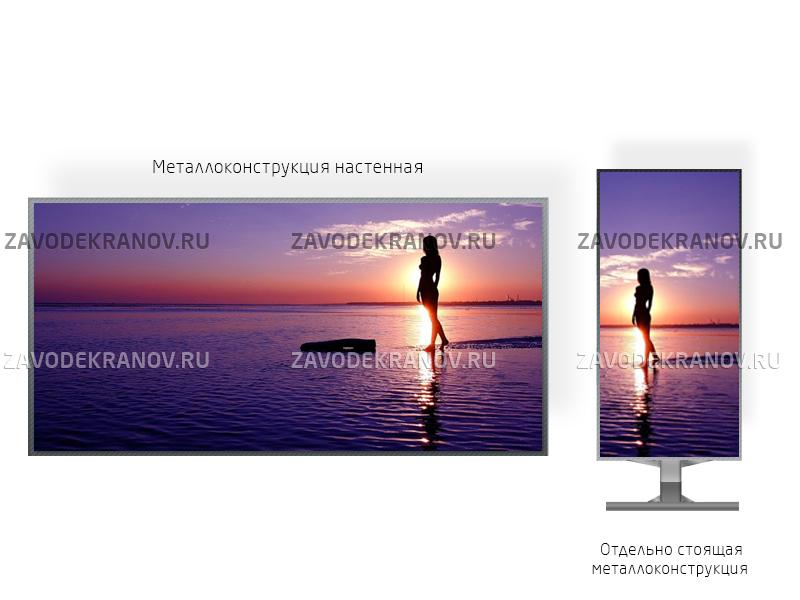 Светодиодный экран 1*1м - обзор от 4м