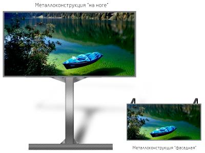 Рекламный экран 6*3м - обзор от 6м
