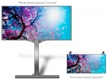 Рекламный экран 3*2м - обзор от 6м