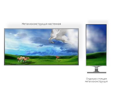 Рекламный экран 1*1м - обзор от 2м