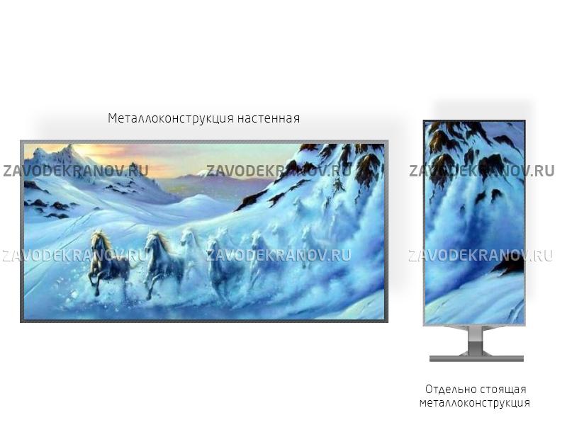Рекламный экран 2*2м - обзор от 3м