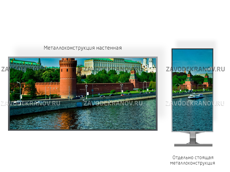 Рекламный экран 2*1м - обзор от 3м