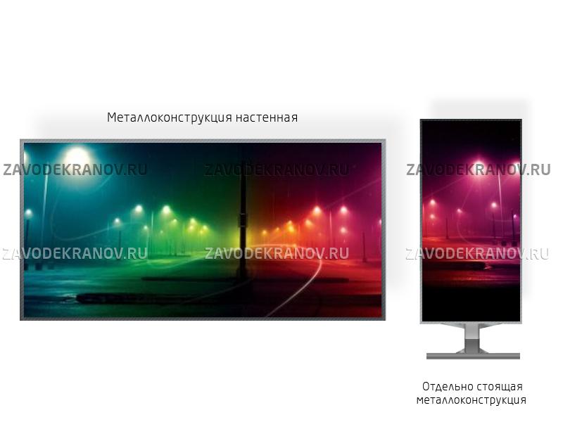 Монитор рекламный 1*3м - обзор от 8м