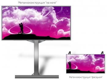Монитор рекламный 12*6м - обзор от 16м