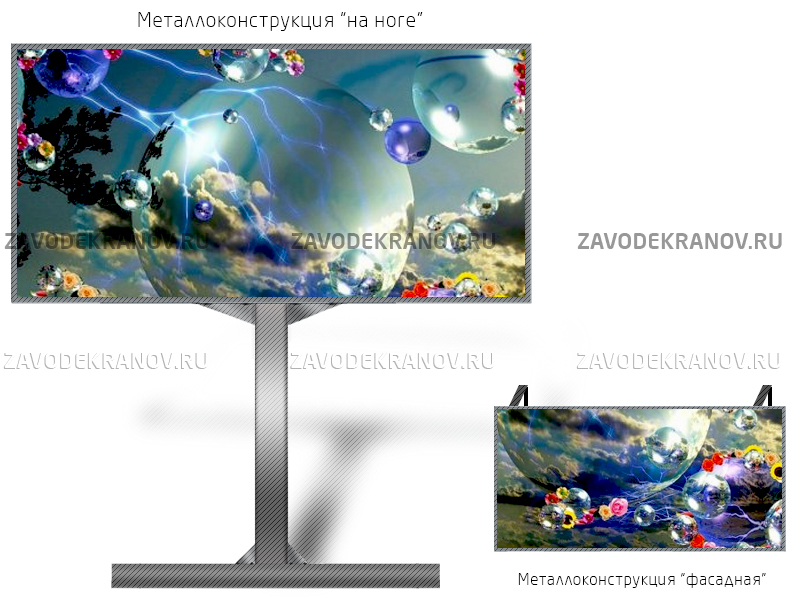Монитор рекламный 10*5м - обзор от 16м