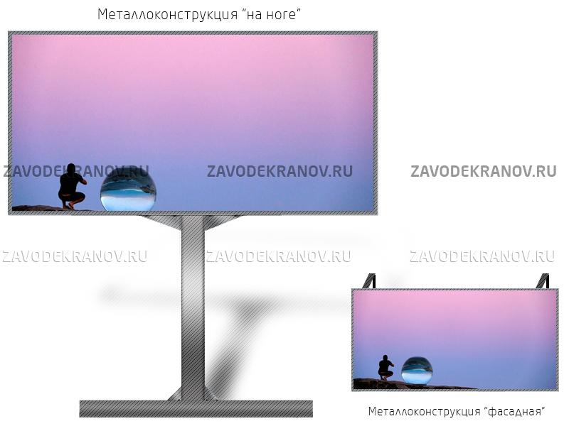 Табло 2*1м - обзор от 13м
