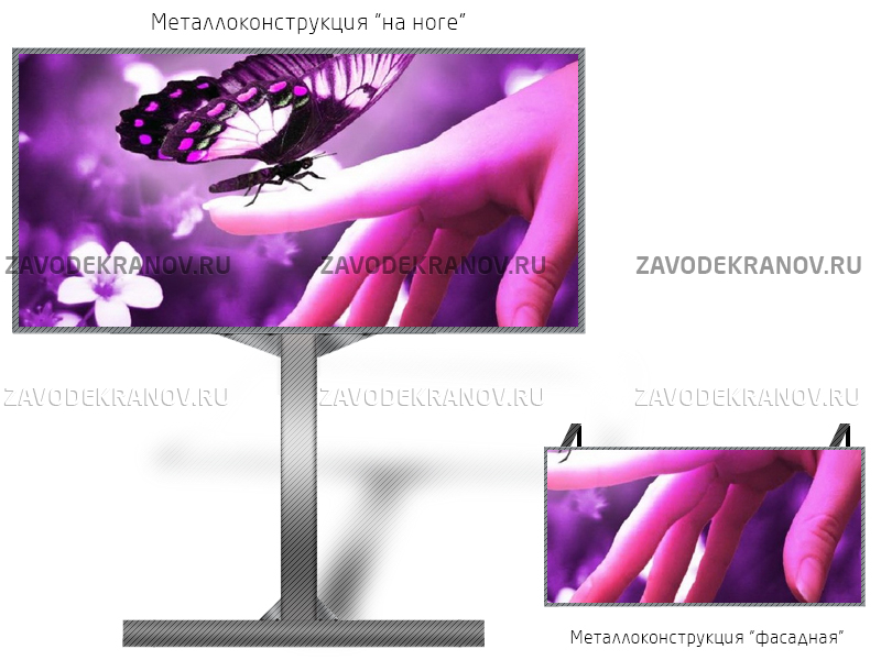 DIP p10 экран 8 х 3м