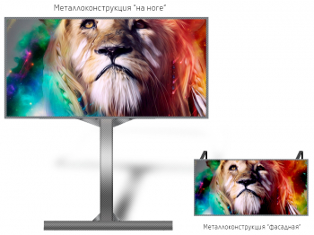 Led экран 3*2м - обзор от 13м
