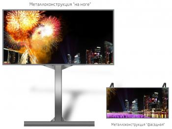 Лед экран 2*1м - обзор от 8м