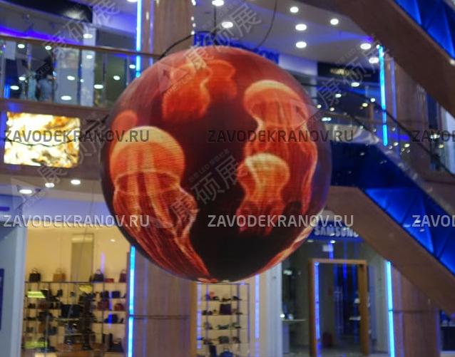 Светодиодный шар - D 2м - обзор от 8м