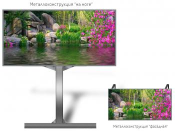 Лед экран 1*1м - обзор от 8м
