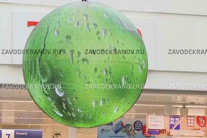 Светодиодный шар - D 2м - обзор от 4м