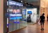 Прозрачный светодиодный экран в торговый центр