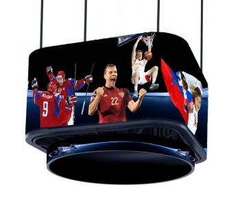 Спортивный светодиодный видеокуб